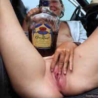 drunk-bitch-vagina-in-car-with-whiskey