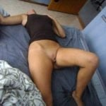 Drunk Woman Pussy in Bed