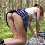 Erotic Doggy Upskirt Outdoors