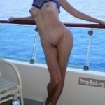 Exchibitionist Young Woman Undressing on Ship
