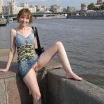 exposing pussy outdoor for photo