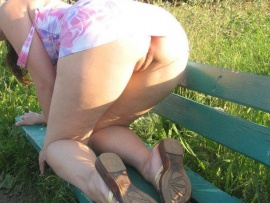 female-booty-on-bench-in-park