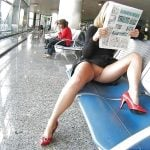 flashing pussy at the airport