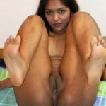 Genuine Indian Girl Legs Up Small Pussy