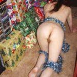 Girl Gives Nude Ass Christmas Present
