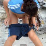 Girl Preparing to Pee Outdoors
