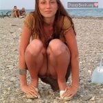 Girl Pussy Slip Accident on Beach