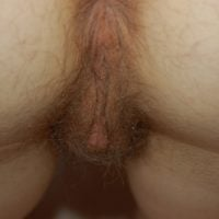 hairy twat from behind close up
