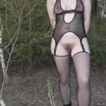 her hairy pussy in the woods