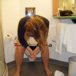 her morning pee