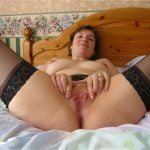 Hot White Wife Spreading Vagina and Legs