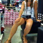 Italian Pussy Upskirt in Store