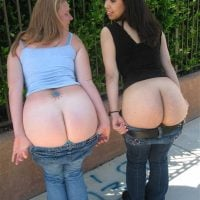jeans-down-women-flashing-butts