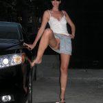 Leg on Car Flashing Pussy