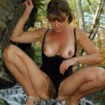 Mature Hot Woman Tits Hairy Pussy Jungle