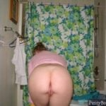 Mature Housewife  Caught Naked from behind