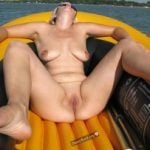 Mature Nudist Woman On Boat