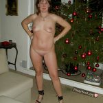 Mature Spouse Posing Naked Christmas Tree