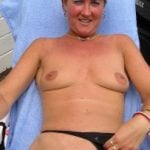 Matured Blonde Wife Flashing Shaved Muff Outdoors