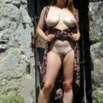 Mom Flashing Pussy and Tits Sightseeing