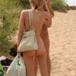 Mother and Daughter Nudes on Beach Private Photo