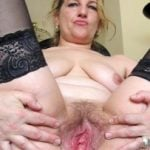 Mother Spreading Mature Vagina Hole