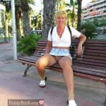 Mother Upskirt on Vacation Outdoors