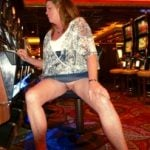 My wife flashing Vegas