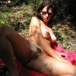 Naked Beautiful Latin Woman Picnic