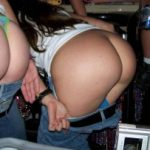 Naked Butts and Bikini Asses in Club stripping