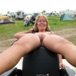 Naked Lady on Camping