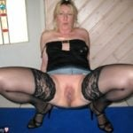 Naughty Mother Showing Cunt Squatting