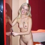 Nude European Blonde Girl at Home