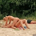 Nude Girls Fight on the beach