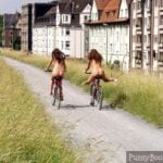 Nude Teen Girls on Bike Outdoor