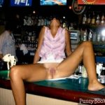 Nude Woman Legs Open Public Bar Party