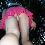 Panties Upskirt peak in public