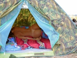 naked ass in a tent