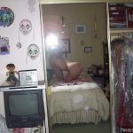 Posing his Naked Girlfriend in the mirror