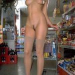 Posing Naked in Supermarket