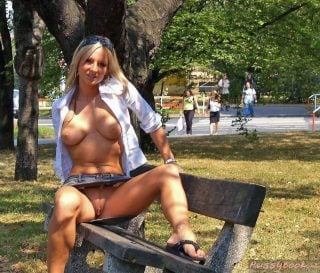public park upskirt exposed