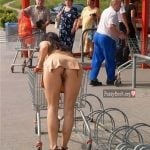 Pussy Upskirt in Public at Mall