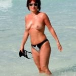 rosy buena topless on beach