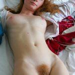 Seductive Russian Gal Bushy Ginger Pussy