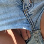 Short Jeans Beautiful Pussy Upskirt