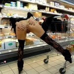 Spreading Ass Cheeks in the Supermarket