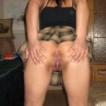 Spreading Buttocks Vagina Upskirt