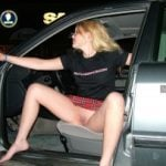 Swedish Teen Pussy Upskirt in Car