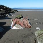 Two Nudist Chicks on Remote Beach