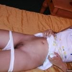 Vietnamese Pussy dropped panties naked on bed